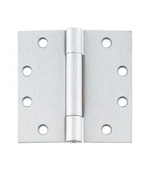"Cal-Royal Bb-2200: 4 1/2"" X 4 1/2"" Full Mortise, Standard Weight, Concealed Ball Bearing Hinge - Us26D Satin Chrome Finish (Pack Of 3), (Lifetime Warranty)"