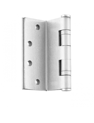 "ADH Select 4"" X 4"" Full Mortise, Standard Weight, Square Corner Two Ball Bearing Hinge - Us15 Satin Nickel Finish (Pack Of 2)"