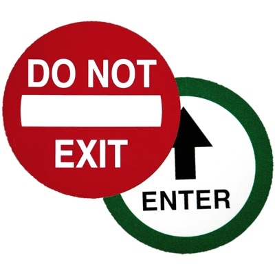 Quot Do Not Exit Quot Quot Enter Quot Double Sided Decal