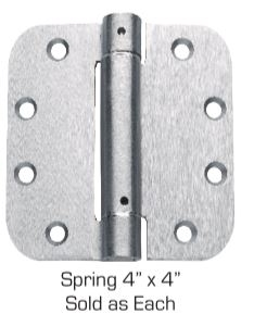"Global Door Controls Cps4040-Usp 4"" X 4"" Full Mortise Spring Hinge In Prime Coat, Grey"