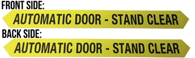 """Automatic Door-Stand Clear"" Double Sided Decal - 25 Pack"