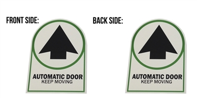 """Automatic Door Keep Moving"" Double Sided Decal - 50 Pack"