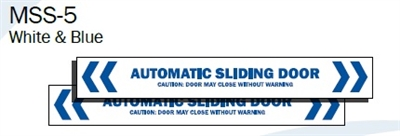Quot Automatic Sliding Door Caution Door May Close Without