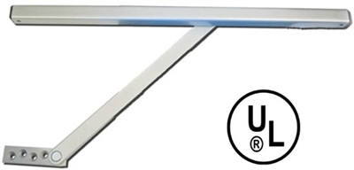 "Cal-Royal Cr552H: Surface Mount Overhead Door Stop with Hold Open - Size 2, 23 1/16"" - 27"", For 2'-0"" Butt Hinge /Offset Door"