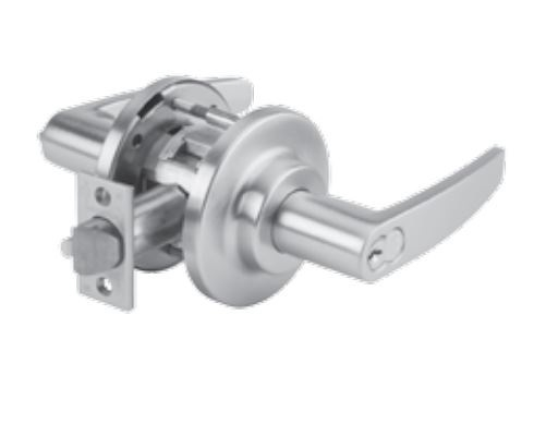 DORMA C801LGC626 - C801 SINGLE DUMMY LEVER, LG LEVER, C ROSE, 2-3/4 IN BACKSET, 626 SATIN CHROME