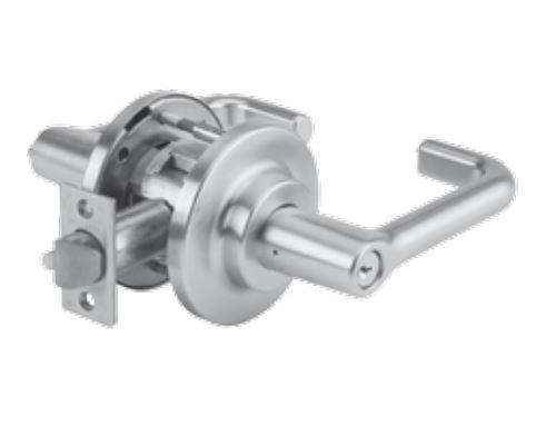 DORMA C801LTE626 - C801 SINGLE DUMMY LEVER, LT LEVER, E ROSE, 2-3/4 IN BACKSET, 626 SATIN CHROME