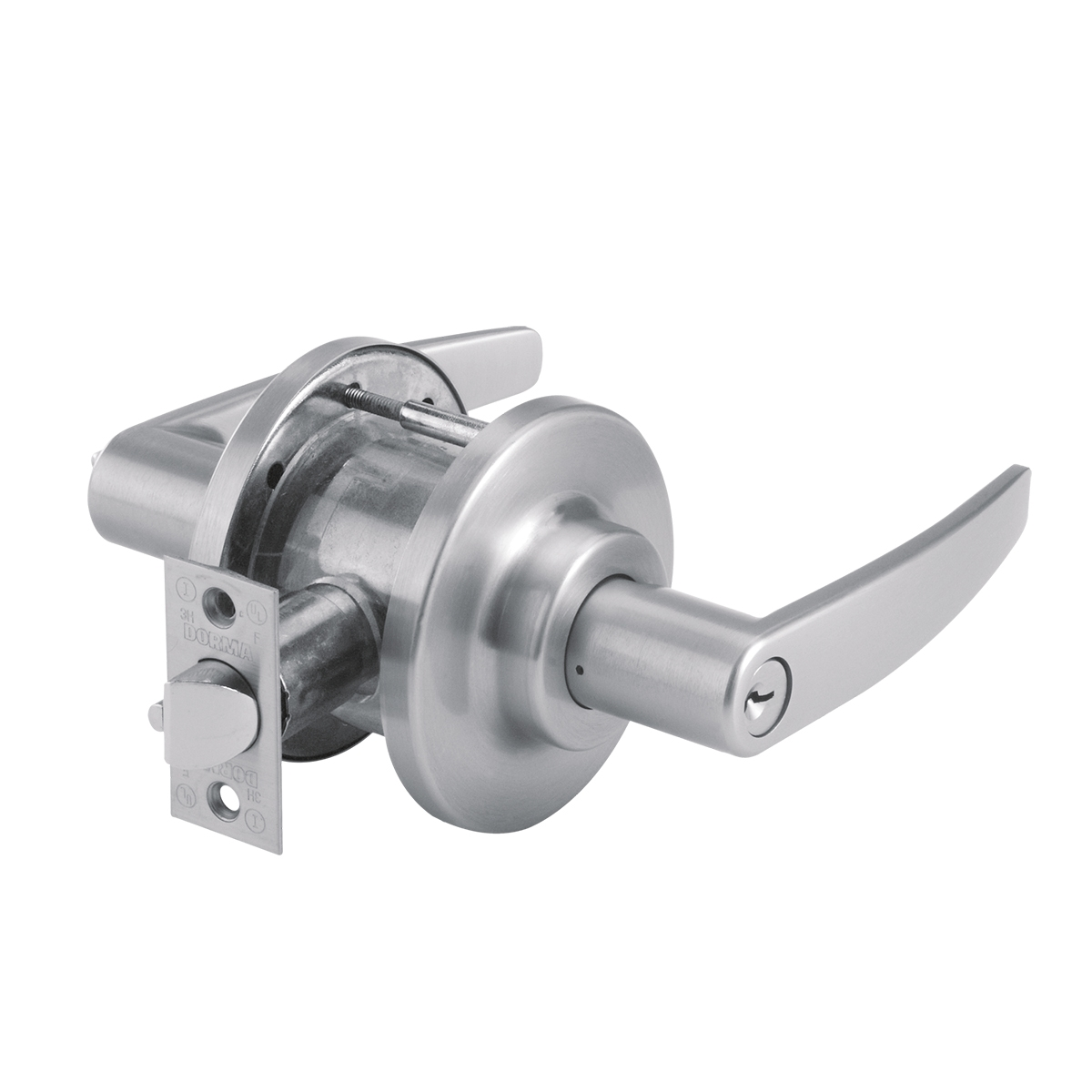 DORMA CL701LGE626 - CL701 SINGLE DUMMY LEVER, LG LEVER, E ROSE, 2-3/4 IN BACKSET, 626 SATIN CHROME